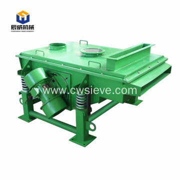 Linear vibrating screen for separating limestone powder